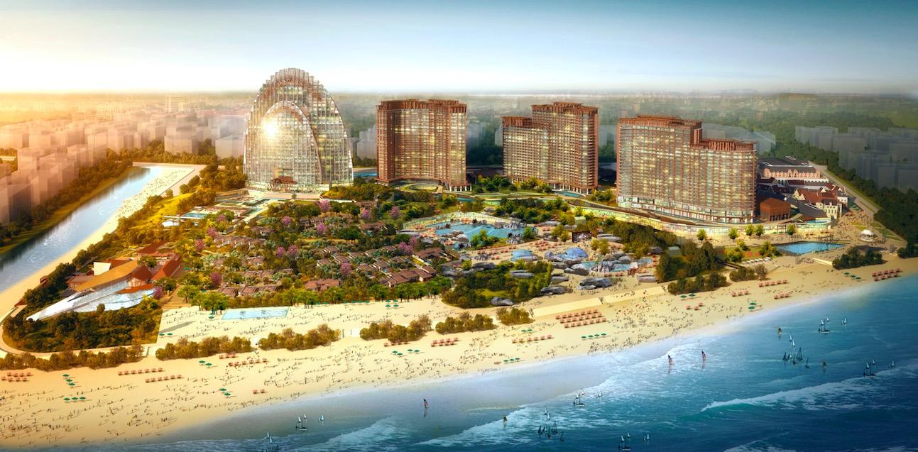 海棠湾红树林的建筑设计与迪拜帆船酒店一脉相承,由阿特金斯负责概念